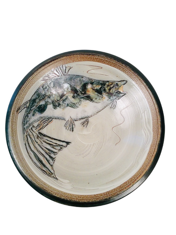 LARGE BOWL FISH, DARK GREEN