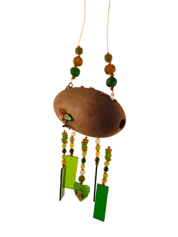 MERMAID WIND CHIME WOOD FLOAT
