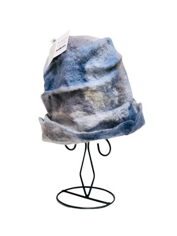 FELTED HAT FANCY BLUE AND GREY DREAM