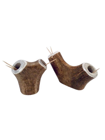 ANTLER DOUBLE TOOTHPICK HOLDER
