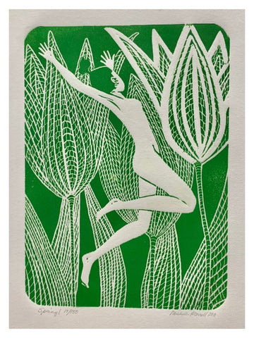 SPRING WOOD ENGRAVING