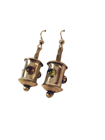 BARREL TOURMALINE EARRING
