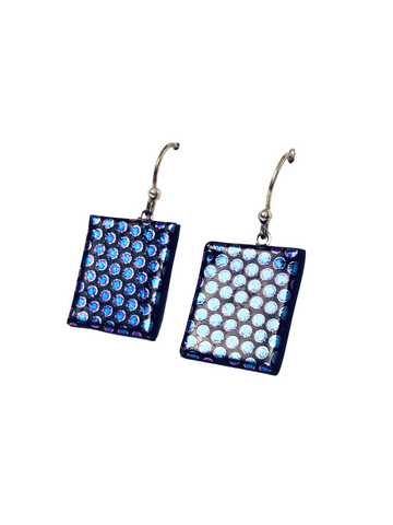 BLUE DOT TILE EARRINGS