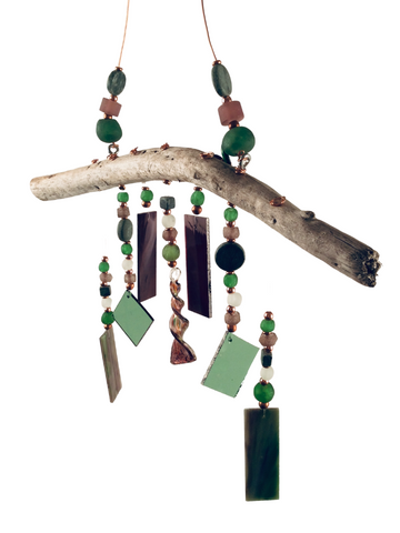 MERMAID WIND CHIME PURPLE AND GREEN