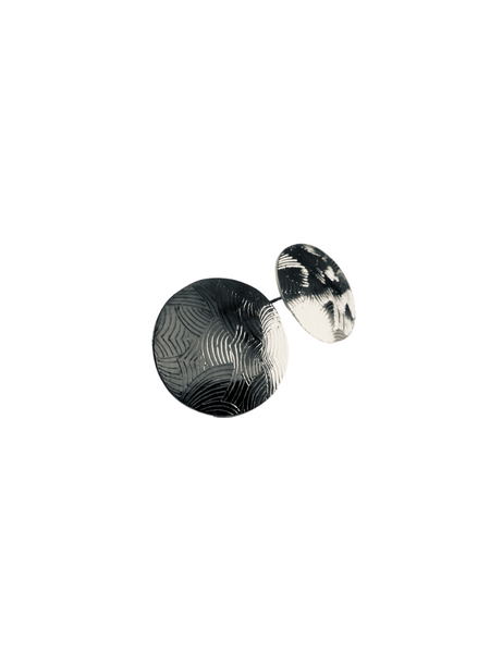 WAVE CIRCLE POST EARRINGS