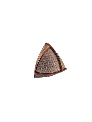 TEXTURED SILVER AND GOLD TIE TAC PIN