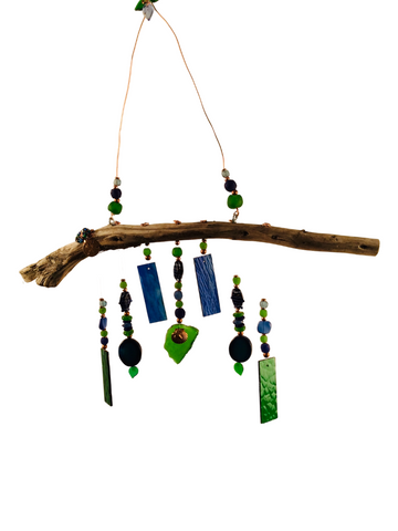 MERMAID WIND CHIME GREEN AND BLUE SEALIFE