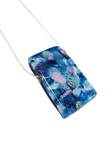 BLUE AURORA GLASS NECKLACE