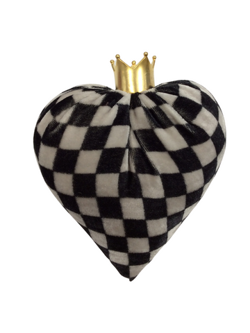 CHECKERED MEDIUM VELVET HEART