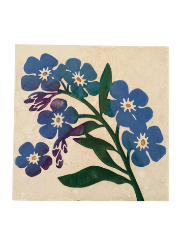 TILE TRIVET FORGET-ME-NOT