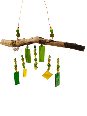 MERMAID WIND CHIME GREEN AND YELLOW