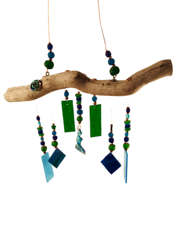 MERMAID WIND CHIME BLUE AND GREEN