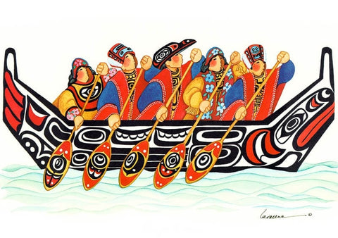 TLINGIT CANOE ART CARD
