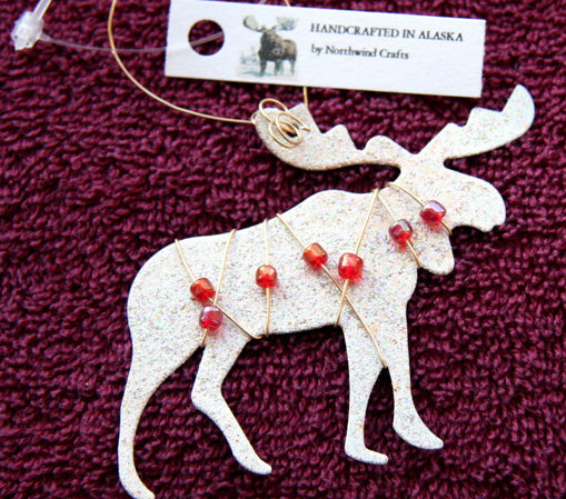 MOOSE ORNAMENT BEADED