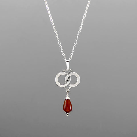 "JOINED FOR LIFE CARNELIAN PENDANT 18"" CHAIN"