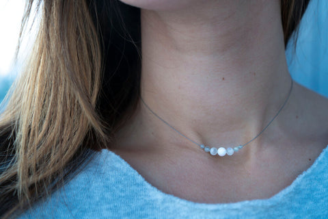 MOON PHASES FLOAT NECKLACE