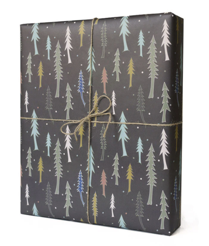 BLACK TREES GIFT WRAP