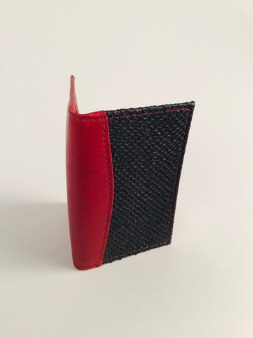 RED MINI WALLET WITH 3 POCKETS