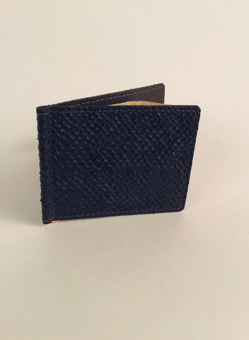 BROWN SALMON LEATHER STANDARD MONEY CLIP