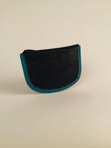 TURQUOISE ZIPPER COIN PURSE