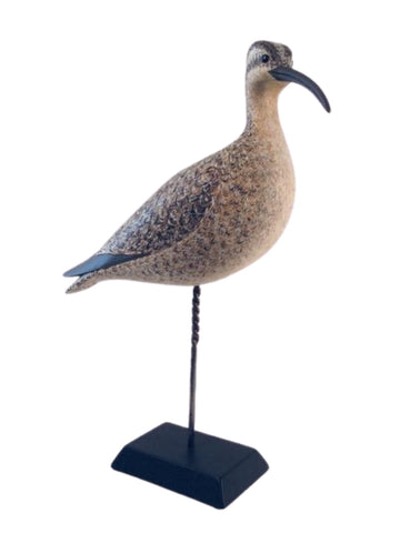 WHIMBREL HAND CARVED BIRD DECOY