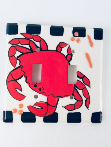 CRAB DOUBLE SWITCH PLATE COVER