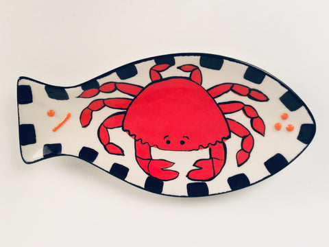 FISH SHAPED CRAB PLATE
