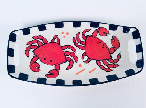 CRAB PLATTER WITH HANDLES
