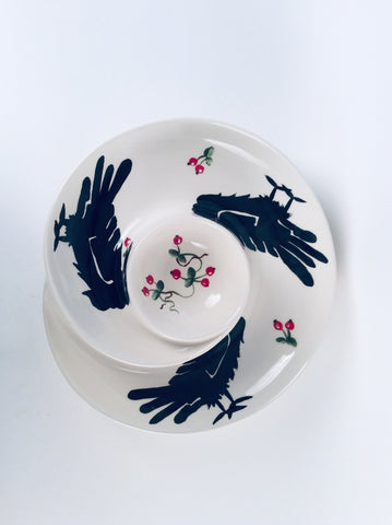 RAVEN SWIRL CHIP AND DIP SERVER