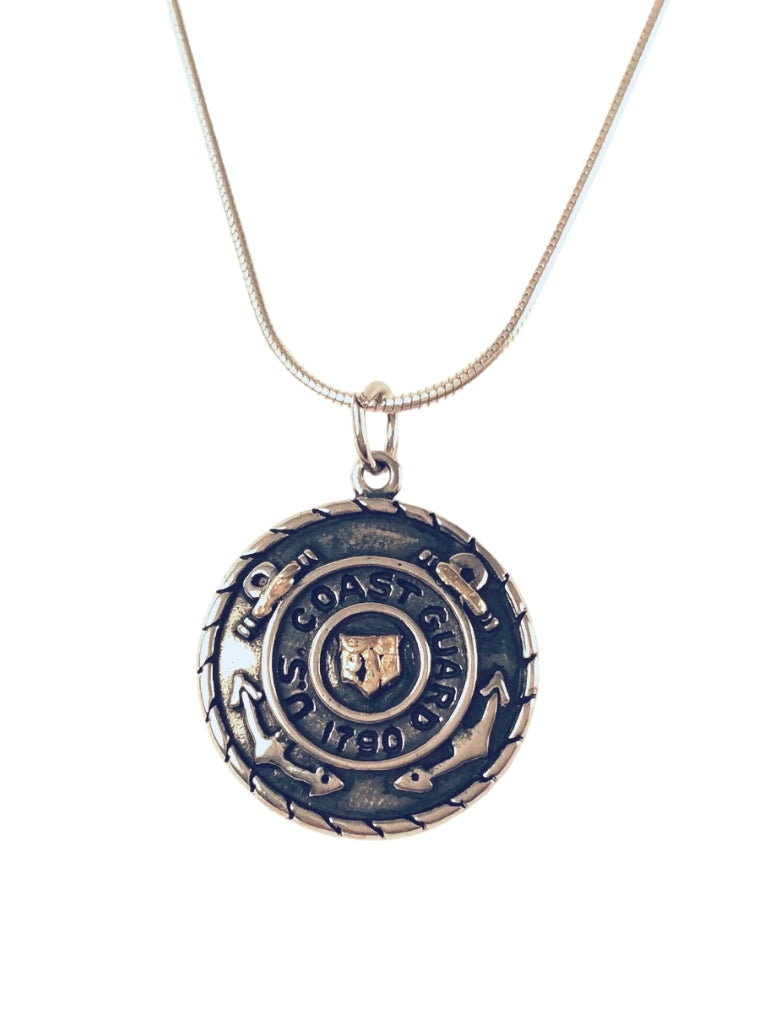 USCG PENDANT WITH GOLD
