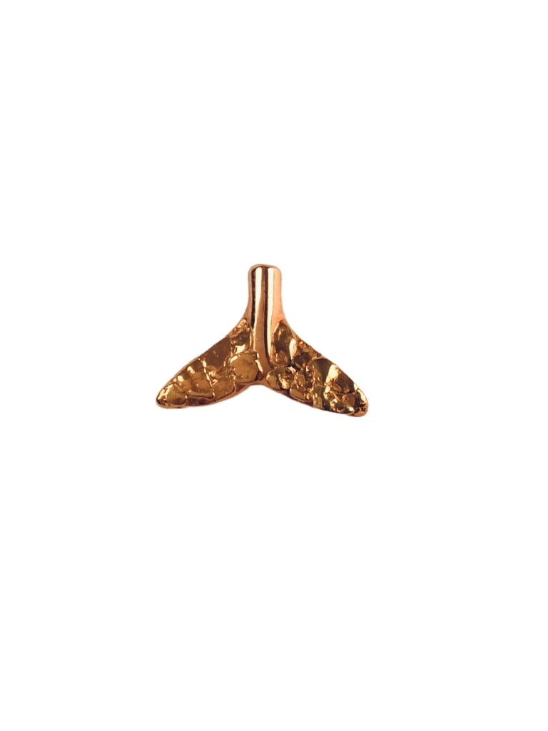 WHALE TAIL 14K TIE TACK PIN