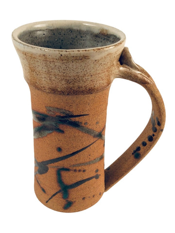 TEXTURED STEIN WITH SPECKLED CREAM RIM