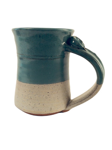 TURQUOISE AND GRAY COLOR BLOCK MUG