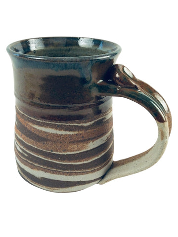 BROWN STRIPE WITH NATURAL MARBLED TEXTURE MUG