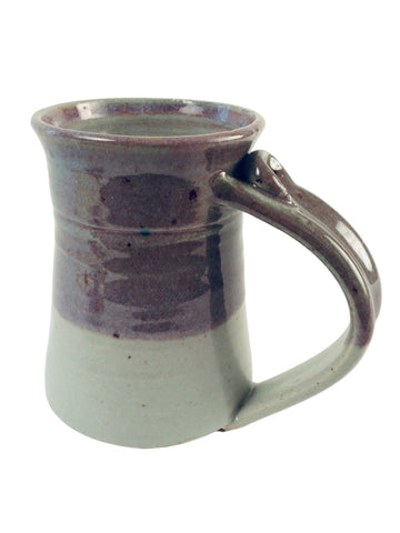 GRAY AND SPECKLED PURPLE MUG