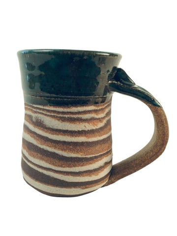 TURQUOISE AND MARBLED TEXTURE MUG
