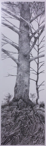 BLACK AND WHITE TREE ORIGINAL DRAWING