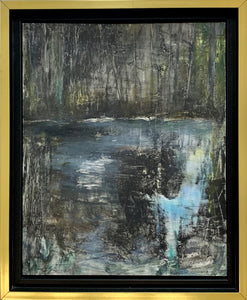 REFLECTIONS FRAMED ORIGINAL OIL PAINTING