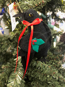 HOLIDAY RAVEN ORNAMENT