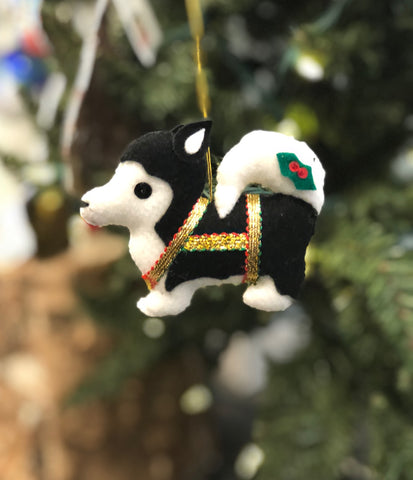 SLED DOG ORNAMENT