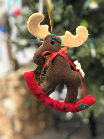 ROCKING MOOSE ORNAMENT