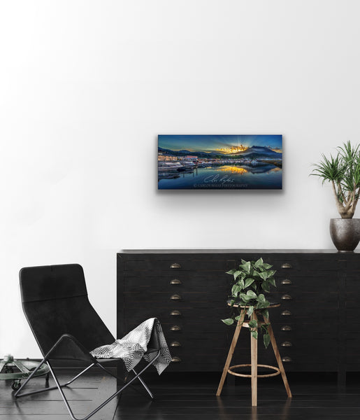 THOMAS BASIN REFLECTIONS 12x24 ON METAL