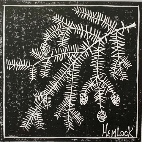 HEMLOCK WOOD BLOCK PRINT