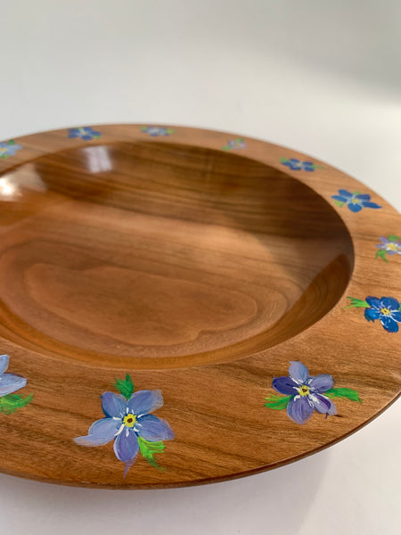 FORGET ME NOT PAINTED BOWL