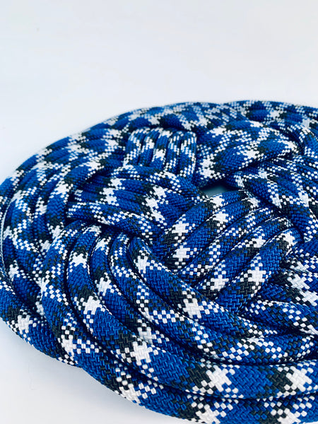 BLUE AND BLACK KNOT TRIVET 12""