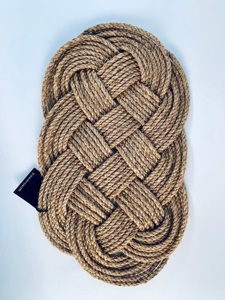 NATURAL ROPE KNOT WALL HANGING/MAT