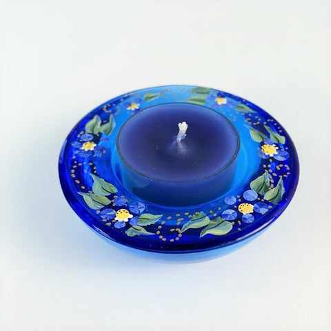 BLUE FORGET ME NOT TEA LIGHT HOLDER