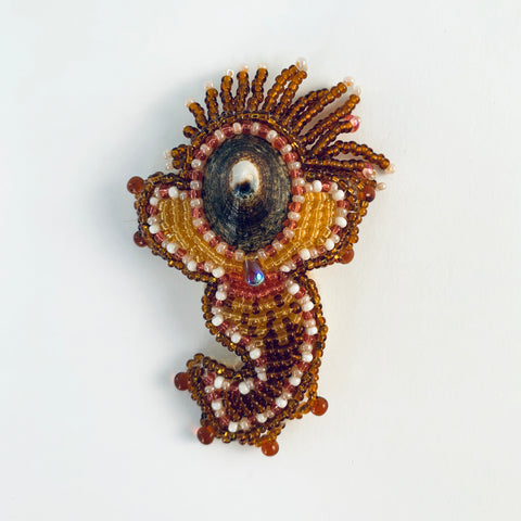 BEADED MERMAID PIN