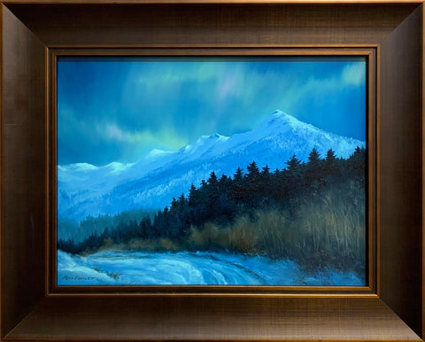 AURORA OVER DEER MOUNTAIN ORIGINAL OIL