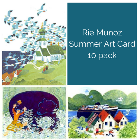 SUMMER ART CARDS 10 PACK RIE MUNOZ
